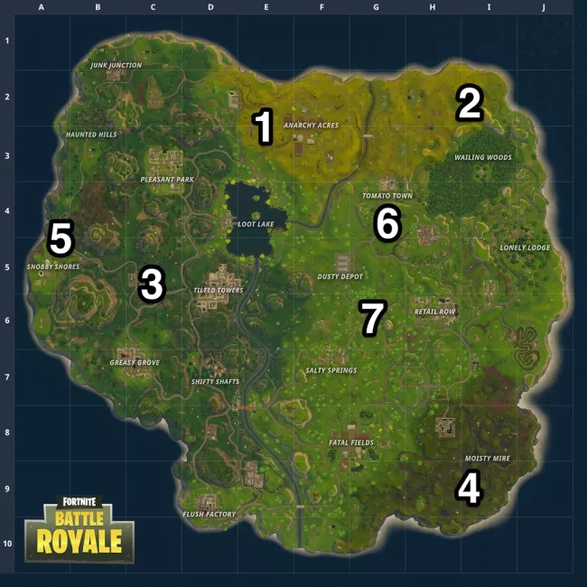 7 most secluded spots in Fortnite